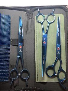 professional dog grooming scissors set 3 cutting scissors Samurai Japanese Made