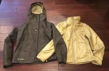 Columbia Convertboard Women's Brown Gold Removable Warm Coat Jacket Sz XS RARE