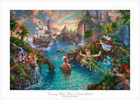 Thomas Kinkade Studios Peter Pan's Never Land 18 x 27 S/N Limited Edition Paper