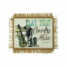 Country Music (Sew On) Embroidery Applique Patch Sew Iron Badge