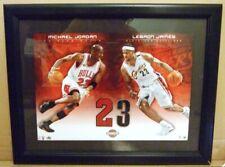 Michael Jordan And Lebron James Upper Deck Jersey Collection Framed RARE!!