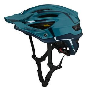 Troy Lee Designs A2 MTB Bicycle Helmet w/MIPS - Silver Marine
