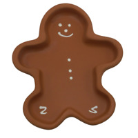 Hartstone Gingerbread Bowl Cookie Mold Christmas Shortbread Pottery Man USA Made