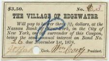 Staten Island New York City 1870s Edgewater Village Bond Coupon Civil War Era 3