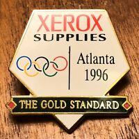 1996 Xerox Supplies The Gold Standard Olympic Advertising Sponsor Lapel Hat Pin