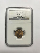 1909 VDB Lincoln Wheat Cent NGC MS 64 RD #1453