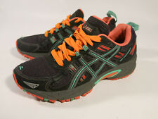 Asics Gel Venture 5 Women's 7 Black Aqua Mint Flash Coral Running Shoes