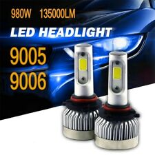 2018 COB 9005 9006 980W 135000LM LED Headlight Kit Hi/Lo Power Bulbs 6500K