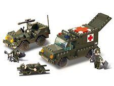 Sluban Sluban Ambulance and Jeep (Army/Military Bulding Blocks)