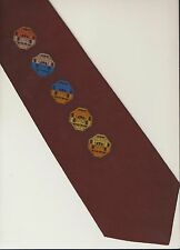 Vtg 1970s Wide Funky Chunky Tie Mens Disco Era Brown Geometric Octagon Shapes
