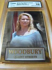 THE WALKING DEAD 2014 WOODBURY QUAINT STREETS ANDREA # WB-02 GRADED 10