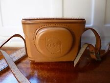 Vintage ORIGINAL Bolsey B2 Leather Camera  Case ONLY Intact Clean RARE USA Made