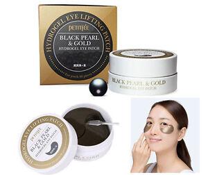 Petitfee / Black Pearl & Gold Hydrogel Eyepatch (1.4g x 60sheet) / Korean Made