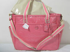 RARE NEW Coach PATENT LEATHER DIAPER BABY CARRY ON MULTIFUNCTION Tote Bag 16977