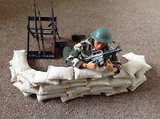 Lot de 10 fait main toy soldier sacs de sable figurine modèle accessoires
