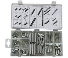 Assorted 200 pcs Extension Compressed Springs Garage Workshop Set + Case