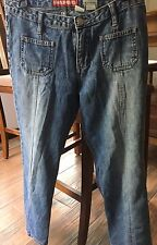 2 pairs Crop pants and 1 activewear pant Union Bay  Denim  & gray SO Size 5