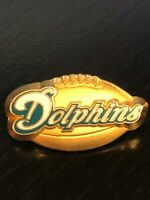 Rare Vintage Collectible Miami Dolphins Football 1998 Colorful Metal Pinback