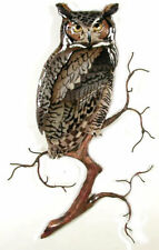 Bovano - Wall Sculpture - Great Horned Owl On Branch