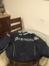 Seattle Mariners Majestic Full Zip Dugout Jacket XL Good Condition