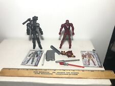 Iron Man 2 Movie Series War Machine & Iron Man Mark VI Lot Used 4""