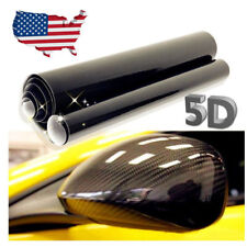"24*60"" US 5D Car Carbon Fiber Vinyl GLOSS Logo Letter Sticker Decals Body Refit"
