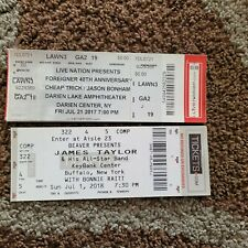 4 Unused Concert Tickets.James Taylor, Cheap Trick.Foreigner