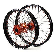 "KTM 85SX Big Wheel 2012 2013 2014 2015 2016 2017 Wheels Set Orange 16"" 19"" Rims"
