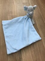 GET COMFY BABY ELEPHANT COMFORTER BLANKET BLANKIE SOFT TOY BLUE STRIPE POUNDLAND
