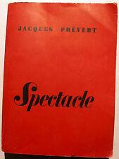 PREVERT/SPECTACLE/NRF/LE POINT DU JOUR/1951/EO/3 EME EDITION