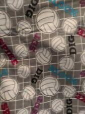 Gray pink volleyball 54x 60 big kid fleece personalized Blanket