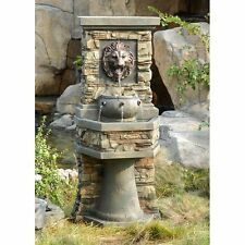 New listing Lion's Head Indoor Outdoor Resin Patio Water Fountain Home Living Garden Decor