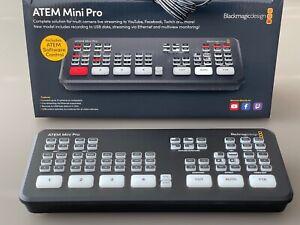ATEM Mini Pro Video Stream Mischer von Blackmagic Design | 4x HDMI | USB C Out
