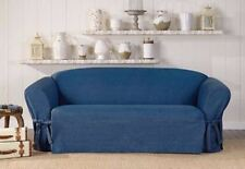 Authentic Denim  One Piece Sofa  Slipcover by sure fit Slip cover