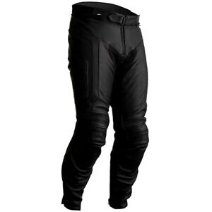 RST Axis CE Sports Motorcycle Motorbike Leather Pants Jeans - Black - UK32
