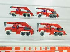 BO559-0,5 #4x Wiking H0/1:87 Gru Kranwagen-Modell Magirus Fw / Pompieri, Nuovo
