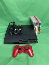 Playstation 3 160GB Console System CECH-2501A Tested 1 Controller 5 Games ECR