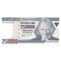 1970 Turkey 250000 Lira Pick# 207 -Very Nice Crisp UNC Banknote! -d2363duq