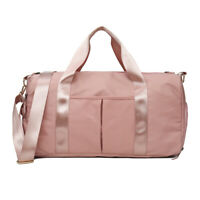 Mens Women Nylon Gym Duffle Bag Waterproof Shoulder Bag Travel Sports Luggage