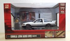 1/24 Aoshima DISM TOYOTA COROLLA LEVIN AE86 WHITE diecast car model Initial D