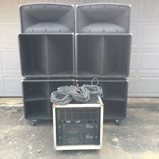 Peavey SP1 Speakers FH1 Subwoofers CS800 Amp Rack System Black Widows REFURB