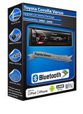 Toyota Corolla Verso car radio Pioneer MVH-S300BT stereo Bluetooth Handsfree kit