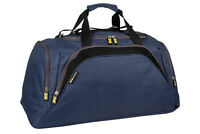 Mens Large Navy Blue Sports & Gym Duffle Holdall Bag SPORTS TRAVEL WORK By MIG