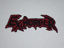 EXHORDER IRON ON EMBROIDERED PATCH
