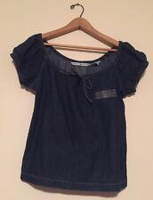 Vintage NWT Tommy Hilfiger off shoulder Denim Shirt Streetwear Revival Preppy