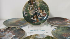 6 Stück Vintage Lilien Porzellan Teller 20 cm mit Zertifikat