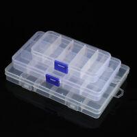 Plastic Storage Box Jewelry Bead Screw Organizer 10/15/24 Container Clear