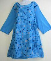 50% Linen 50% Cotton LAGENLOOK 3/4 SLEEVE  DRESS 8 COLOURS  PLUS SIZE 18-22