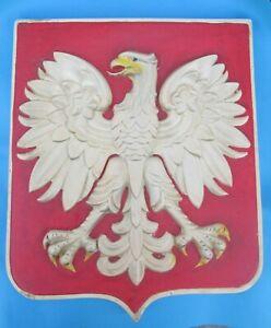 Godlo Polski Orzel PRL - 1957 Poland - Vintagr Polish Eagle Emblem