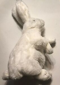 Folkmanis-White Rabbit Puppet with Movable Mouth & Paws-15""